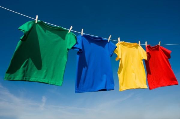 отстирывание цветных футболок
