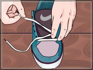 достаем шнурки