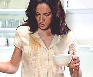 След от кофе с молоком