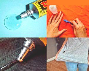 Как вывести пятно от клея с одежды