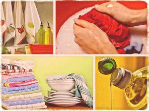 Как вернуть кухонному текстилю привлекательный внешний вид