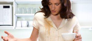 Как вывести пятно от чая на белом